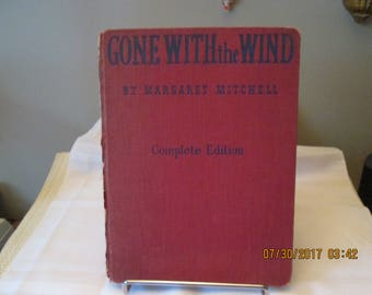 Vintage Book Gone With The Wind, Margaret Mitchell, Motion Picture Edition Macmillan Co 1940, Old Hardcover Book