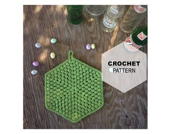 Puff Stitch Trivet Pattern | Crochet Trivet Pattern | Crochet Hot Pad Pattern | Crochet Pot Holder Pattern