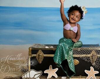 Crochet seashell mermaid TOP, 5 sizes, shell bikini top,mermaid costume crochet top,READY to SHIP,pick a color,cake smash birthday party top