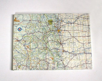 Colorado State Map Etsy - Colorado state map