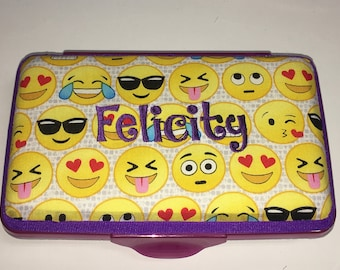 Personalized Kids School Pencil Box Case Emoji Faces
