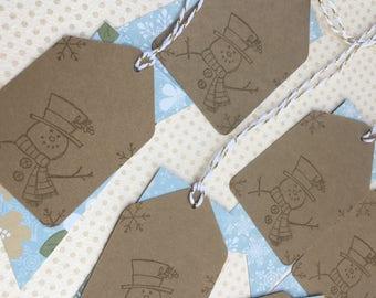 Snowman Gift Tags - Christmas Tags - Snowman Christmas Tags -