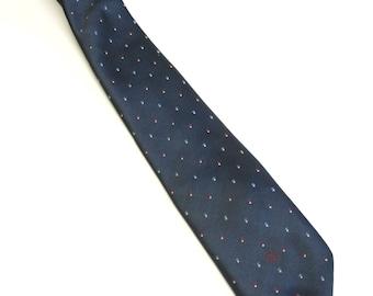 Christian Dior Necktie Silk Dark Blue Neck Tie