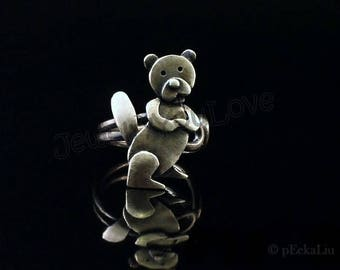 Sterling Silver Beaver Ring - Billy