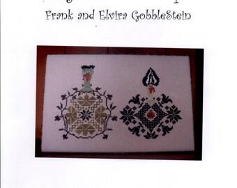 Aury TM: Frank and Elvira Gobblestein - A Gobble Couple Cross Stitch Pattern