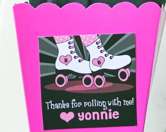 Roller Skating Favor Printable or Printed with FREE SHIPPING - ANY Wording - Roller Skate Love Collection