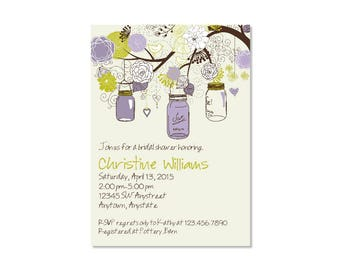 Mason Jar Bridal Shower Invitation