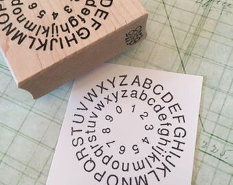 Letterwheel Rubber Stamp