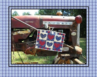 Americana Bandanna Quilted Trivet Pattern, by Curlicue Creations