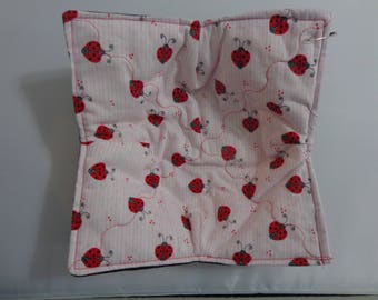 Ladybugs over Red - Microwave Bowl Cozy