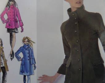 PRINCESS SEAM COAT Pattern • Simplicity 0571 • Miss 4-12 • Button Jacket • Outerwear • Sewing Patterns • Modern Patterns • WhiletheCatNaps
