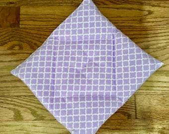 Pooch Pad  for American Girl doll house pets lavender diamond pattern