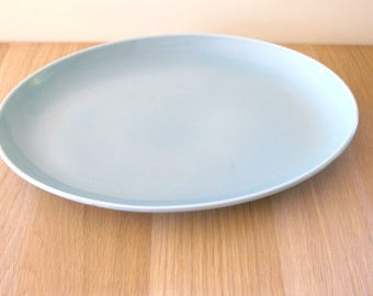"Vintage Russel Wright Ice Blue 14"" Oval Platter Iroquois Casual China"