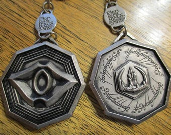 Lord of the Rings RINGWRAITH Medallion - Jewelry Making Pendant & Key Chain Parts - (DESTASH)
