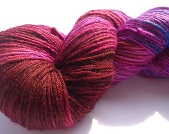 Hand dyed sock yarn Premium high twist  hand painted: Fall evening light