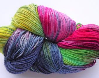 Fine Merino Socks 6-ply hand dyed yarn hand painted sock yarn: Maverick