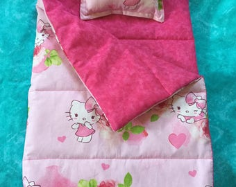 Hello Kitty Sleeping Bag in pink