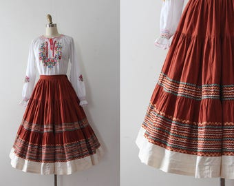 vintage 1950s patio skirt // 50s patio skirt