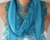 Teal Pashmina Scarf,spring summer Scarf,Cowl Scarf, Gift Ideas For Her, Women Fashion Accessories,mother's day Gift,Best selling item
