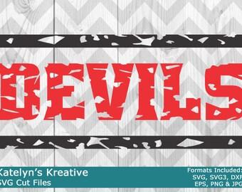 Devils Distressed SVG Files