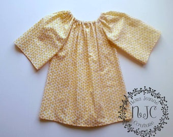 Maize Floral Peasant Dress- Size 6 OOAK CLEARANCE