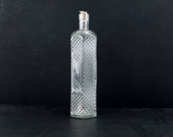 """Decorative Clear Glass """"Decanter Style"""" Bottle with Cork, 12"""" tall - Message in a Bottle, Infused Liquor and more"""