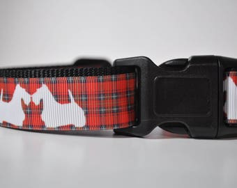 Hand Made Dog Collar -Tartan Scottie or Westie Dog - 50% Profits to Dog Rescue