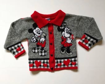 Vintage Minnie & Mickey Mouse Sweater (5/6)