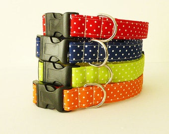 Polka Dots Dog Collar, Dog Collar Varieties, Girl Dog Collar, Boy Dog Collar, Classic Dog Collar, Polka Dots Collar, Dots Dog Collar