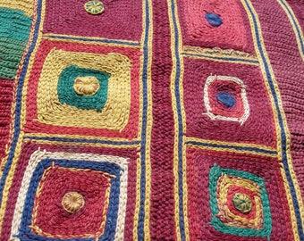 Banjara Indian embroidery rectangle piece