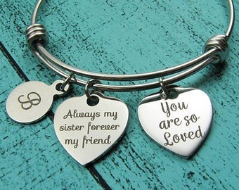 personalized sister gift, sister bracelet, sister wedding gift, love you sis gift, sister birthday gift, for her jewelry, Christmas gift