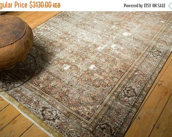10% OFF RUGS 5x9.5 Antique Fereghan Carpet
