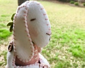 Reserved for Leah -  Spring Bunny - Cloth Doll Bunny - Easter Decor