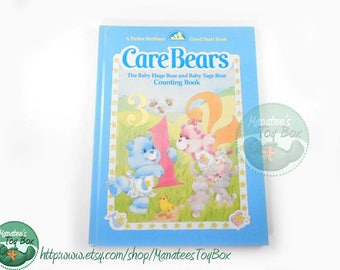 Vintage Care Bears Book Baby Hugs Bear and Baby Tugs Bear Counting Book Hardcover 1980s Kids Book