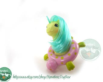 Vintage My Little Pony Baby Sea Shimmer Sea Pony with Float 1980s Toy by Hasbro