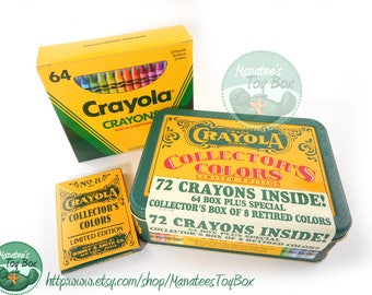 Vintage Crayola Crayons Collector's Tin Includes Retired Colors