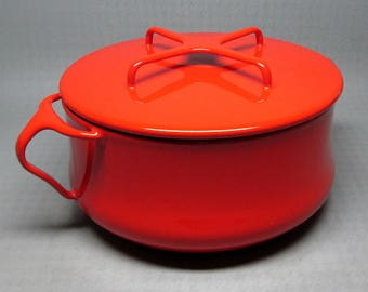 Dansk Kobenstyle pan , medium size , red exterior white interior , made in France