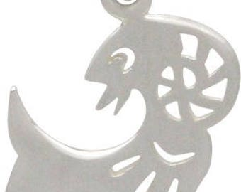 Chinese Zodiac Goat Charm -20mm, Sterling Silver