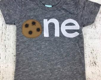 Cookie shirt, boy's birthday shirt, Ready to Ship first birthday shirt, size 12/18 , one shirt, cookie shirt, cookie party, cookie birthday