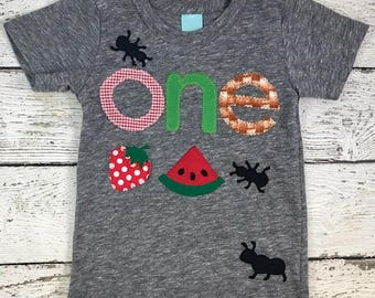 Picnic birthday, picnic party, picnic outfit, farmers market party, farmers market decor, picnic decorations, one shirt, kids birthday shirt