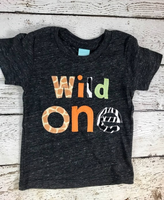 Wild one outfit, First birthday shirt, Wild 1, animal ...