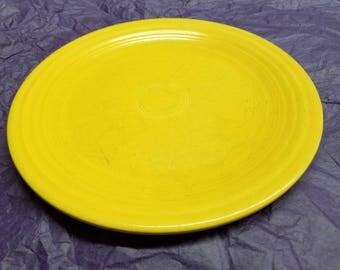 Vintage Yellow Fiestaware Plate, Fiesta Plate, Yellow Plate, Vintage Plate, Homer Laughlin Co.