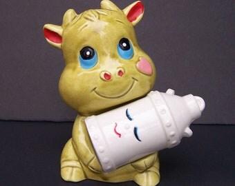 Salt Pepper Cow Milk Can Ceramic Shakers Japan