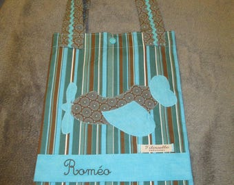 Tote bag, personalized, for Romeo library bag