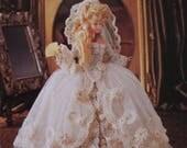 Paradise Publications Crochet Collector Costume Fashion Doll Pattern 1785 Old World Bride Dress Volume 67 original pattern