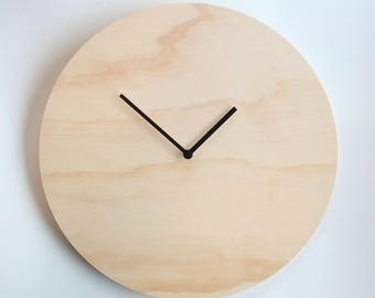 Objectify Plywood Wall Clock - Extra Large