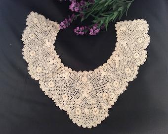 Vintage Ivory Irish Lace Collar, Vintage Lace, Vintage Collar, Irish Lace, Antique Collar