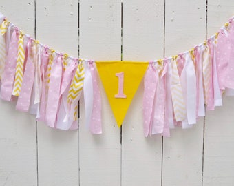 Girl Birthday Banner - Pink Lemonade 1st birthday - 1st Birthday banner - 1st birthday decor - pink lemonade birthday - 1st Birthday Decor