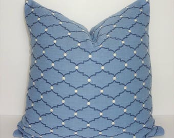 INVENTORY REDUCTION Blue & Navy Geometric Dot Pillow Cover Home Decor by HomeLiving Size 18x18