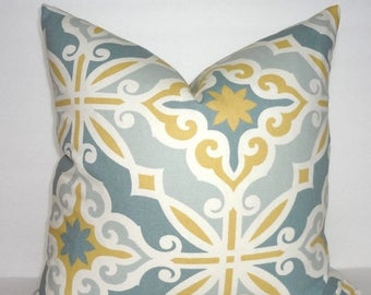 SPRING FORWARD SALE Harford Saffron Macon Geometric Print Pillow Covers Decorative Grey Gold Throw Pillow Covers Choose Size
